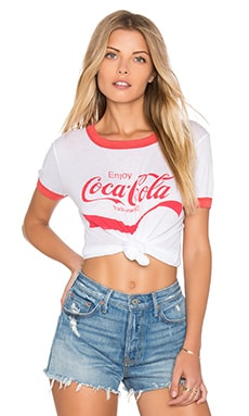 Coca Cola Top in Clean White