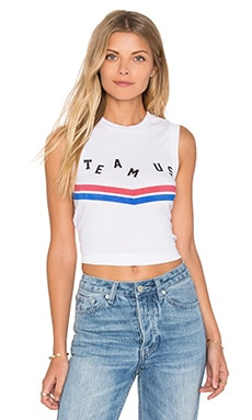 Wildfox Couture Team US Top in Clean White