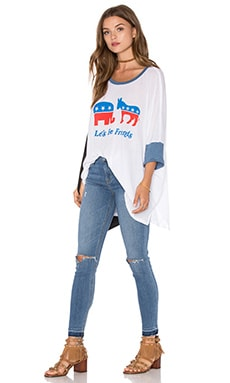 Wildfox Couture Friendship Top en Clean White & Monday Blues