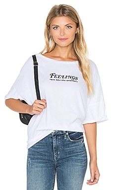 Wildfox Couture Feelings Top in Clean White