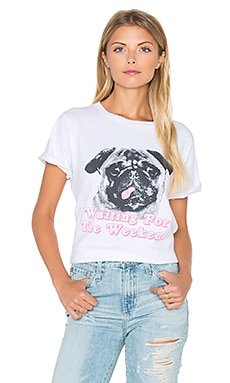 Wildfox Couture Woof Weekend Top in Clean White