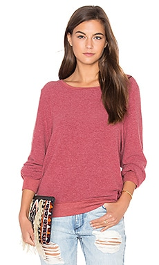 Wildfox Couture Basic Top in Crimson Crush