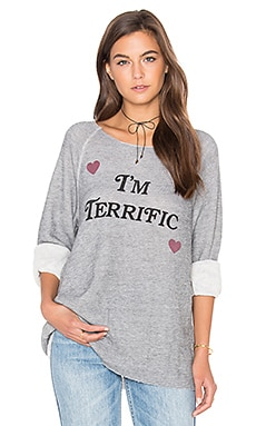 I'm Terrific Top en Heather Vanilla Latte