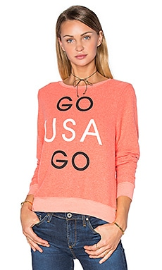 Wildfox Couture Go Team Go Tee in Sunbathe