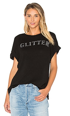Glitter Sonic Tee in Clean Black