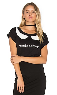 I'm Wednesday Top in Clean Black