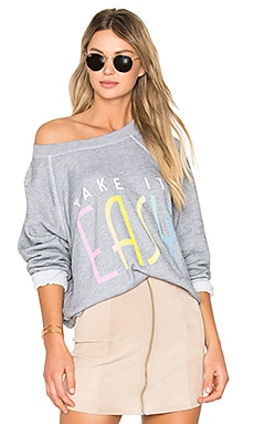 Take It Easy Top in Heather