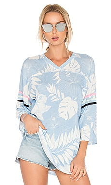 Vacay All Day Top en Bleu Piscine