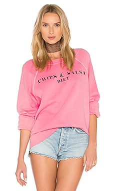 Chips & Salsa Top in Peach Crush