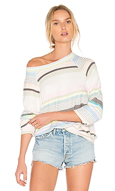 Beach Towel Stripes Top in Multi Colored