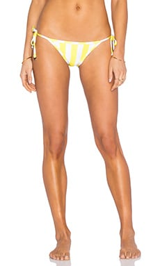 Wildfox Couture Emoji Reversible Side Tie Bikini Bottom in Yellow Daisy