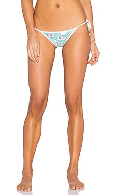 Wildfox Couture Sixties Floral Reversible Bikini Bottom in Emerald