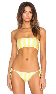 Wildfox Couture Reversible Bandeau Top in Yellow Daisy