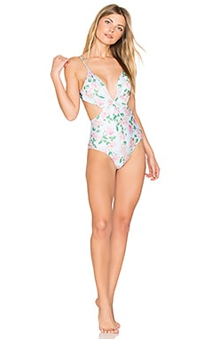 Dusty Rose Print Marilyn Maillot One Piece Swimsuit en Springwater