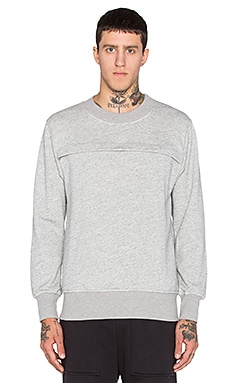 Wil Fry Pouched Sweatshirt in Heather
