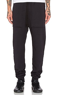 Wil Fry French Terry Sweatpant in Black