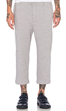 Wil Fry Cropped Trackpant in Heather Grey