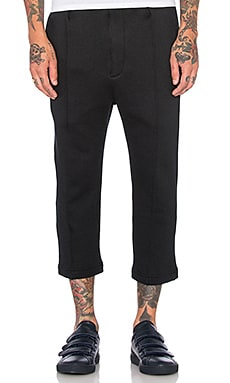 Wil Fry Cropped Trackpant in Black