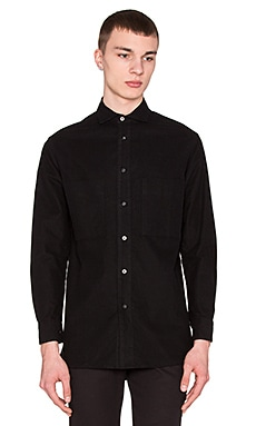 Wil Fry Utility Flannel Button Up in Black
