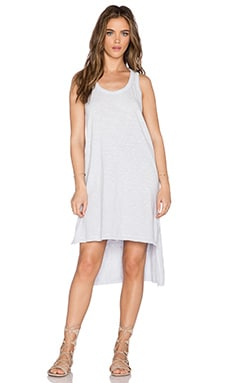 Wilt Slub Jersey Uneven Tank Dress in Distressed Meadow