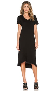 Wilt Twisted Slit Tee Dress in Black