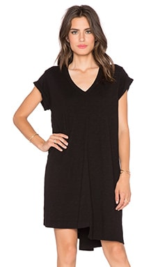 Wilt V Neck Tunic in Black