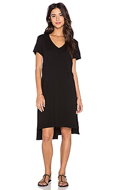 Wilt Shifted Tee Dress in Black