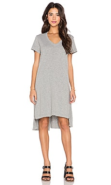 Wilt Shifted Tee Dress in Grey Heather