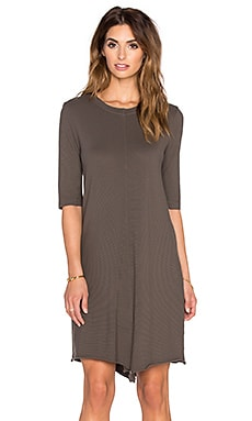 Wilt Unfinished Edge Tee Dress in Muddy Charcoal