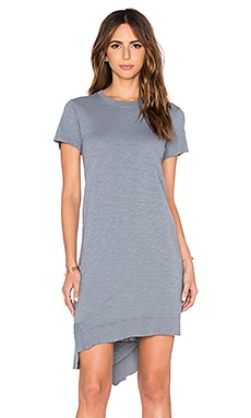 Wilt Slub Slanted Vented Tee Dress in Uniform