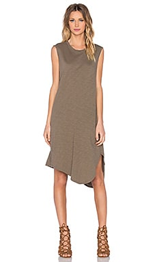 Slub Shirttail Twist Dress