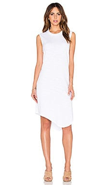 Wilt Slub Shirttail Twist Dress in White