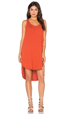 Wilt Slub Shirttail Tank Dress in Rooster