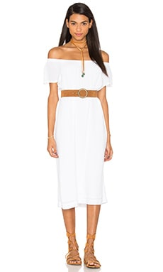Off The Shoulder Peasant Dress en Blanc