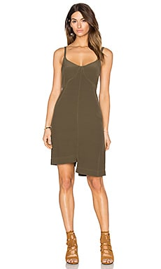 Wilt Slub Shifted A line Dress in Army