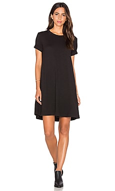 Wilt Trapeze Tee Dress in Black