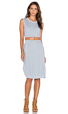 Twist Hem Shift Tee Dress in Dusty Blue