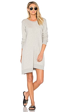 Shrunken Gusset Sweatshirt Dress in Grey Heather