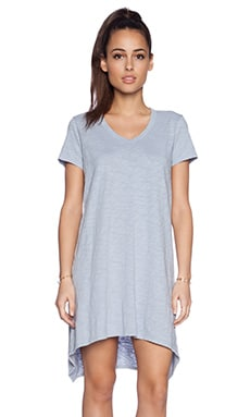 Wilt Short Sleeve Shrunken BF T Dress in Baby Sky