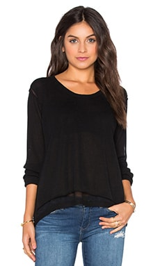 Wilt Shrunken Layered Sweater in Black