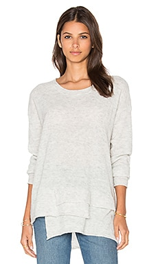 Mock Layered Sweater in Grey Heather