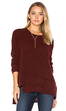 Mock Layered Sweater in Maroon