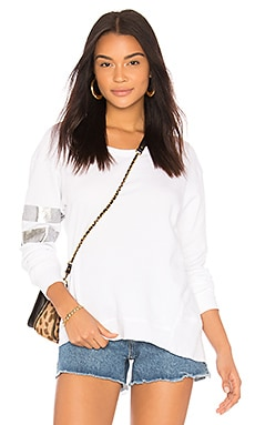 Silver Foil Big Backslant Sweatshirt