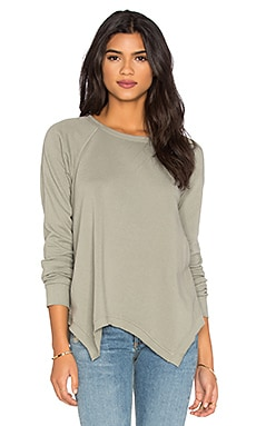 Wilt French Terry Baby Hanky Hem Sweatshirt in Sage Brush