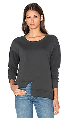 Slouchy Slanted Shifted Sweatshirt in Bottle