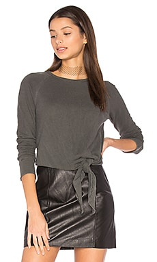 Easy Tie Pullover in Distressed Black