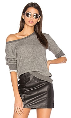 Torn Shrunken Sweatshirt in Charcoal Heather