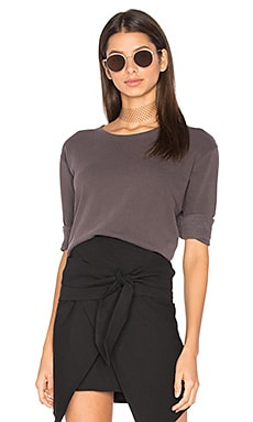 Torn Shrunken Sweatshirt in Eggplant