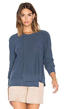 Seamed Long Sleeve Sweatshirt in Midnight