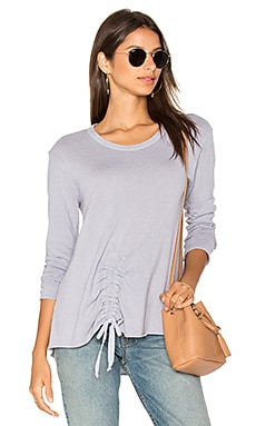 Drawstring Tie Front Sweatshirt in Meadow
